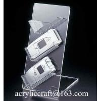 China Transparent L shape acrylic cellphone / camera display stand on sale