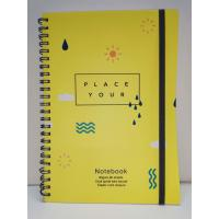Quality Yellow Color PVC Hard Cover Spiral Notebook Printing For Promotional Gift for sale