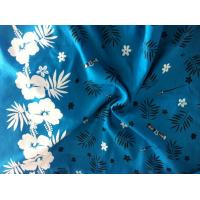 Quality Polyester peach chiffon fabric printed for shirt for sale