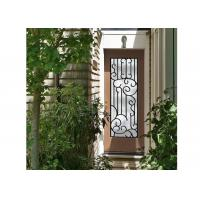 Quality Distinctive Customization Wrought Iron Glass Door Inserts Excellent Climate Resistance for sale