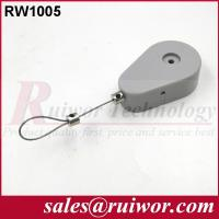 Stainless Steel Retractable Wire Rope Reel , Retractable Security Cord