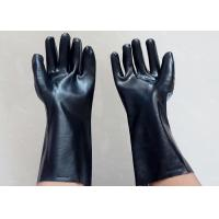 Quality Abrasion Resistant Heavy Duty Gauntlet Gloves , Insulated PVC Gloves Open Cuff for sale