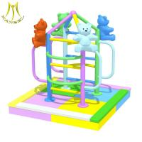 Quality Hansel  indoor theme park for kids soft play equipment climbing castle for sale