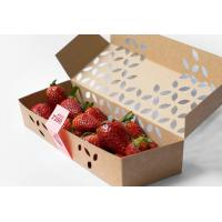 Quality Colorful Printing Fruit Packing Boxes For Fresh Banana / Apple Free Sample for sale