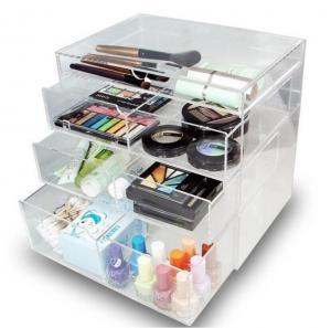 China Acrylic Jewelry Makeup Cosmetic Organizer Case Box Storage Display Holder Drawer on sale