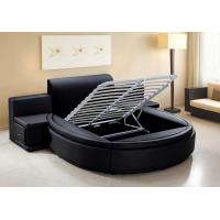 China leather round bed on sale QUEEN SIZE on sale