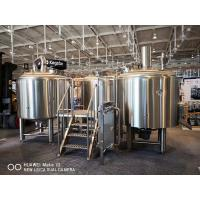Buy cheap 10BBL Brewhouse Large Scale Brewing Equipment Semi Auto Control Panel from wholesalers