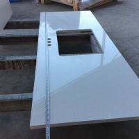 Quality Professional Stone Kitchen Countertops / Quartz Kitchen Top With Mirror Colors for sale