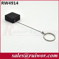 Quality Demountable Key Ring Plastic Pull Box With Retractable Stainless Steel Lanyard for sale