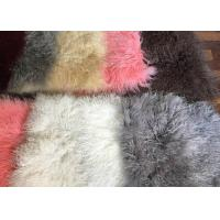 China 110cm * 55cm Sheepskin Accent Rug Plate For Home Throw / Making Garment on sale