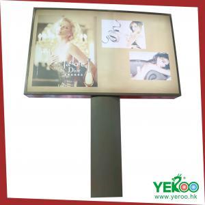 China Flag sign road furniture Unipole column Billboard on sale