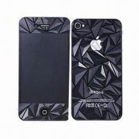 Quality 3D Diamond Crystal Screen Protectors, Ideal for iPhone 4S for sale