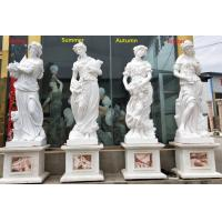 Quality Outdoor garden marble stone statues four season marble sculpture stone carvings,China stone carving Sculpture supplier for sale