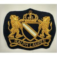 Best Handmade Bullion Wire Embroidery Anchor Shape Patch With Lion Blazer Crest Patches wholesale