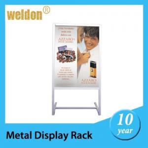 Best recyclable floor standing poster display frame metal display rack a - boards wholesale