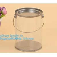 Quality 100ml pet clear plastic can,fruit candy tin container jars with aluminum lid,1 gallon clear paint can size bagease pack for sale