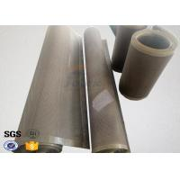China Heat Resistant Ptfe Coated Glass Fabric Satin Weave FDA Certificated on sale