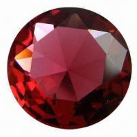 Best Chaton Ruby Red Glass Round Gems for Necklace, Earrings, Pendant, Ring and Bracelet Setting wholesale