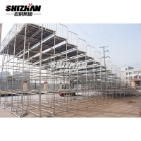 Quality Retractable Telescopic Portable Grandstand Seating Aluminum Football Bleacher Seat for sale