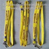 Best 3/8 inch tubular polyester lanyards with metal sheet crimp, custom lanyards cheap prices, wholesale