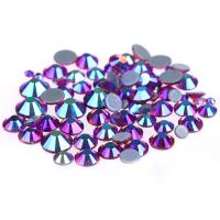 Buy 14 / 16 Facets Small Rhinestone Studs , Glass Material Pink Loose Rhinestones at wholesale prices