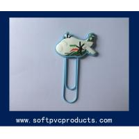 Quality Funny 3D / 2D File Paper Plastic PVC Silicone Clips ,Custom Shaped Paper Clips for Kids for sale
