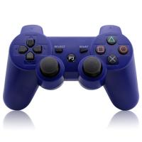 Quality Dark Blue Bluetooth Playstation 3 Controller 2.4GHz WirelessDual Vibration Gamepad for sale