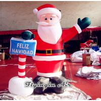 China Inflatable Christmas Santa Claus with Sign for Outdoor Advertisement on sale