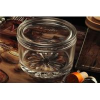 Best Personalised Empty Clear Glass Candle Jars With Lids , ASTM Test wholesale