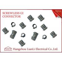 Quality 20mm 25mm Steel GI Conduit Screwless Connector Electro Galvanized BS4568 for sale
