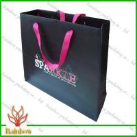 Best Customized Luxury Brown Kraft Paper Bags For Shopping With Hang Rope wholesale