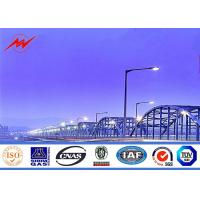 Quality Double Arm 60W LED Commercial Outside Light Pole Wind - Proof High Mast Pole for sale