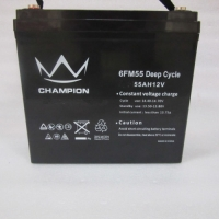 Quality 12v 55ah Rechargeable Agm UPS Lead Acid Battery M6 Terminal for sale