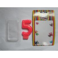 Quality Smokeless Number Birthday Candles With Golden Glitter Powder On The Surface for sale