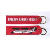 Buy cheap 777 Remove Before Flight Fabric Key Chain Aviation Tags from wholesalers