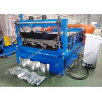 Quality Steel Panel Floor Deck Roll Forming Machine With Cr12 Cutting Blade for sale