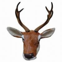 Best Christmas Deer Heads for Home Decoration, Made of Fake Fur, Measures 18 x 18 x 32cm wholesale