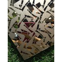 China Titanium Coated Decoraive Pattern Stainless Steel Metal Sheet For Hotel Lobby Wall Panels on sale