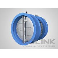 China Ductile iron Duo check valve Dual-plate Wafer Type Rubber Resilient Seated on sale