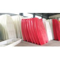 China Red White Color Rotational Moulding Products / Plastic Fishing Boats on sale
