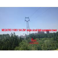 China MEGATRO 110KV 1A4 ZM1 single circuit light suspension tower on sale
