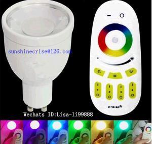 Best GU10 RGB spotlighting 4w RGBW LED bulbs E27 B22 B26 bulbs with remote control wholesale