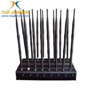 Quality 16 Antenna Full Bands Desktop Jammer Blocker Isolate GSM 3G 4G Wimax UHF VHF Lojack Signal for sale