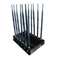 China Jammer,Cellphone jammer,12 Antenna All Bands Cell Phone GPS WIFI VHF UHF 4G RF433 Jammer on sale