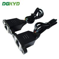 Quality OEM / ODM 8p8c Shield Ethernet Patch Cable Panel Mount Rj45 Socket Patch Cable for sale