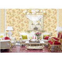 Quality Fashion Flower Embossed Wall Covering Italy Style Embossed Floral Wallpaper for sale