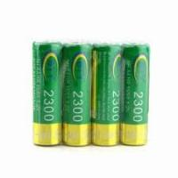 China AA NiMh rechargeable battery 2300mAH 1.2V for digital products, Bluetooth headsets, PSP on sale
