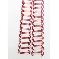 Quality Pre Cut Twin Loop Binding Wire O Wire , Spiral O Wire Customized Service for sale