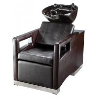 Quality Luxury Salon Shampoo Chairs With Cushion Headrest , Electric Footrest for sale