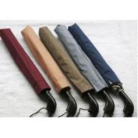 Buy cheap Auto Open 2 Folding Golf Umbrella Black Wooden Handle Self Fabric Pouch from wholesalers